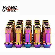 Neo Chrome Extended 48mm STEEL Wheel nuts  12x1.5 Fits Honda Civic CRX Jazz
