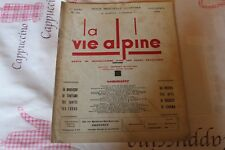LA VIE ALPINE 24  revue du régionalisme dans les alpe française 1929