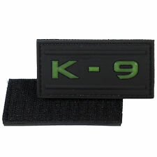 K9 PVC Morale Patch 3D Tactical Airsoft Badge Hook Canine #03