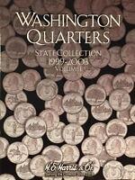 WASHINGTON QUARTER 1999-2008 (2 - COIN FOLDER SET) H. E. HARRIS / WHITMAN - NEW