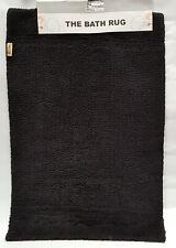 Bath Mat Black Jumbo Rectangle Reversible Bathroom Rug 62 x 96cm