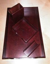 Dark Wood Desk Desktop Writing set -
