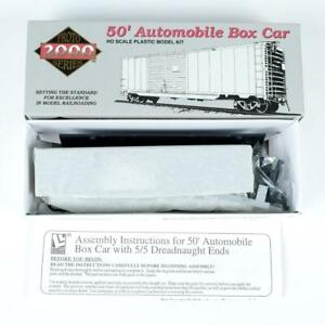 Proto 2000 Undecorated 50' Automobile Boxcar Dreadnaught Ends Kit HO 8443 (A)