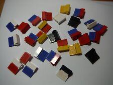 LEGO BULK LOT OF 27 MODIFIED BRICKS SHUTTER HOLDER 1X1X2 AND SHUTTERS