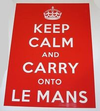 LEMANS Le Mans Classic 24 ore KEEP CALM and CARRY ON Adesivo Decalcomania