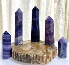 Wholesale Lot 1 Lb Natural Silk Fluorite Obelisk Tower Point Crystal Healing
