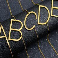 Frauen Mode Edelstahl Halskette Schmuck 26 Buchstaben Anhänger Gold Silber