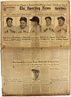 1936 SPORTING NEWS BASEBALL MAGAZINE ORIGINAL BOX SCORES YANKEES 9 3 1936