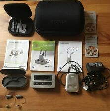 Phonak Audeo Q70 312 Digital RIC Hearing Aid Pair + ComPilot & TVLink S