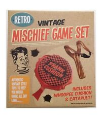 Retro Vintage Mischief Game Gift Set Whoopee Cushion & Slingshot Toys Christmas