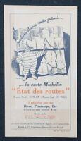 Publicité ETAT DES ROUTES MICHELIN Bibendum guide
