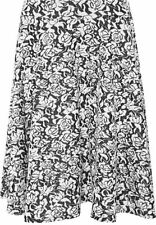 Polyester Knee-Length Floral Plus Size Skirts for Women