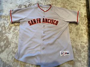 Vintage SAN FRANCISCO GIANTS JERSEY MAJESTIC MLB BRAND SIZE XL Stitched Korea