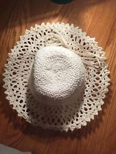 VTG Womens Original Wide Brim Hat made in Italy 100% Rayon - Needs Reshaped !