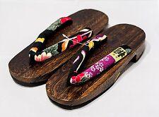 Japan Made Geta PaulowniaWood Sandals Traditional sakura-black Size-L 7997