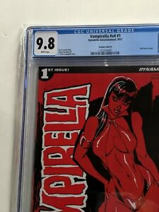 Vampirella #1 CGC NM + 9.8  J. Scott Campbell BLOOD RED Variant Cover