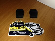Ford Mk2 Escort Cosworth Pedal Box Rubber Pads Brand New Pair GRP4 Rally Race