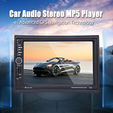 2DIN 7'' HD Bluetooth 2.0 Touch Screen Car Audio Stereo GPS MP3/USB/FM/MP5 7020G