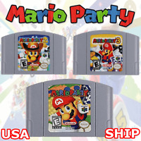 Nintendo 64 Mario Party 1/2/3 Video Game Cartridge Console Card US Version