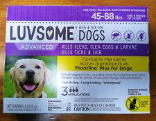 New listing Luvsome Advanced for Dogs: Kills Fleas Ticks & Lice, 45-88 lbs, 3 Applicators