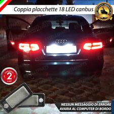 COPPIA LUCI TARGA LED PLACCHETTE COMPLETE CANBUS AUDI A6 C6 + A6 C6 AVANT