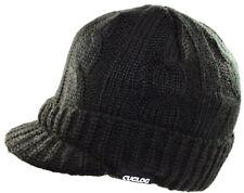 Cuglog Sweater Beanie Solid Warm Visor Jeep Knit Winter Ski Skull Cap Hat-black
