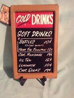 "RETRO VINTAGE ""COLD DRINK"" SIGN BY TOM BALDWIN OHIO WHOLESALE"