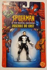 SPIDER-MAN & THE MARVEL UNIVERSE POSEABLE DIE-CAST The Punisher Toy Biz B2
