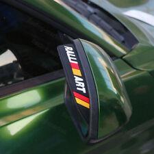 2x RALLIART Black Car Rear View Side Mirror Rain Board Eyebrow Guard Sun Visor