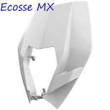 KTM EXC125 EXC250 EXC300 XCW200 XCW250 XCW300 2008-2013 White Headlight Mask