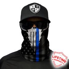 "Sa Co Face Shield Tubular Bandana Dunes Fishing Blue Line ""Police Appreciation"""