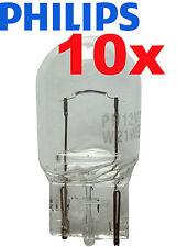 Philips 10 Stück W5W Premium 5 Watt 12 Volt 12961 Licht Autolampe Glassockel