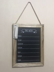 Wooden WEEKDAYS Chalk Board memo Message Board Weekdays Planner Black Board new