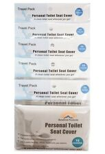 5 Travel Packs 50 pcs Disposable Hygenic Paper PersonaL Toilet  Seat Covers