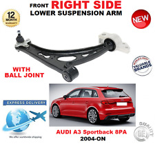 FOR AUDI A3 Sportback 2004-> FRONT RIGHT WISHBONE SUSPENSION ARM + BALL JOINT