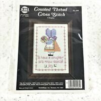 NMI - NeedleMagic - 14 Count Cross Stitch Kit - A DAUGHTER - Vintage