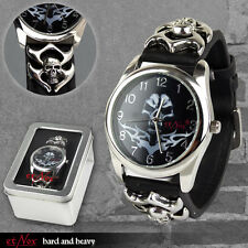 """etNox Uhr ''Tribal Skull"""" inkl. Metallbox  Øca.4,0 cm Geschenkidee von etNox"""