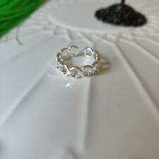 Infinity Toe Ring Solid 925 Sterling Silver