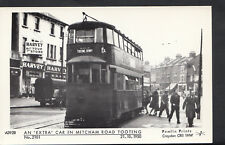 London Postcard - An 'Extra' Tram Car In Mitcham Road, Tooting  BE601