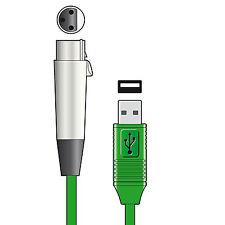 CHORD Female XLR  TO USB PLUG, Interface Cable 3 METRES