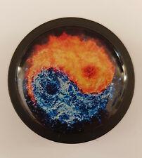 Magnet Kühlschrankmagnete Motivmagnete Büro Pinnwand yin yang Feuer Wasser