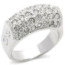 H12 Top Grade Crystal Fashion Ring Rhodium Sz 7