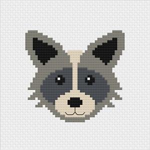 Raccoon Mini Cross Stitch Kit by Meloca Designs