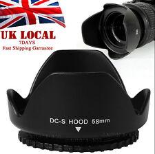 58mm Flower Lens Hood FOR canon eos 350d 400d 450d h373 650d 550d 1100d kit UK