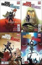 MARVEL UNIVERSE vs THE AVENGERS #1 2 3 4 set (4) hawkeye thor hulk 1st print HOT