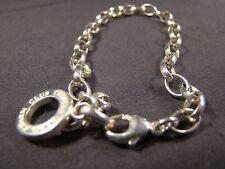 "Beautiful Sterling Silver Thomas Sabo Wide Link Charm Bracelet Carrier .925 7.5"""