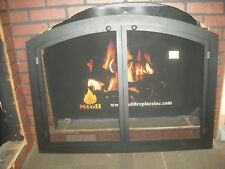 "Stoll Mesh Fireplace Door Custom Arch Bar Stock Texture Black 40-1/2"" x 30-1/4"""