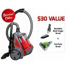 Ovente Bagless Canister Cyclonic Vacuum � Hepa Filter � Includes Pet/Sofa Brush,