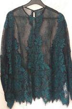 Beautiful Zara black & green oversize lace top blouse, Brand new, Size S