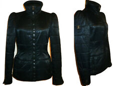 CHANEL ~ ICONIC CHANEL 06A  Black Padded Jacket ~ size: M ; 40  * AUTHENTIC